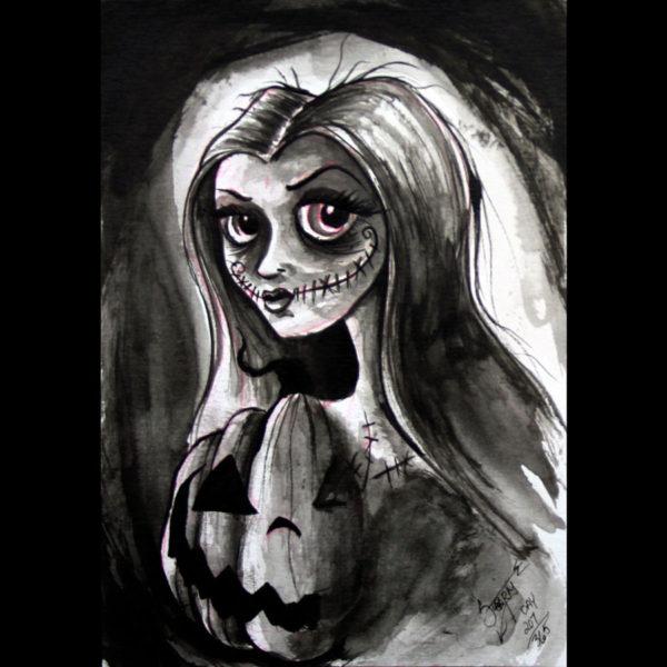 """Halloween Princess"" print"