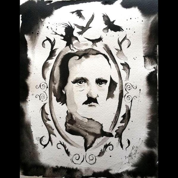 """Mr. Poe"" print"
