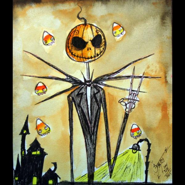 """Pumpkin Jack and the Nightmare Candy Corns"" Print"