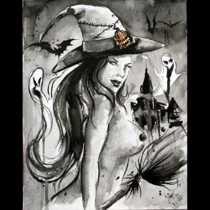"""Conjuring carnal magic on Hallowe'en"" print"